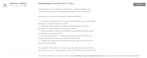 Mac OS X 10.9.1 - Mavericks