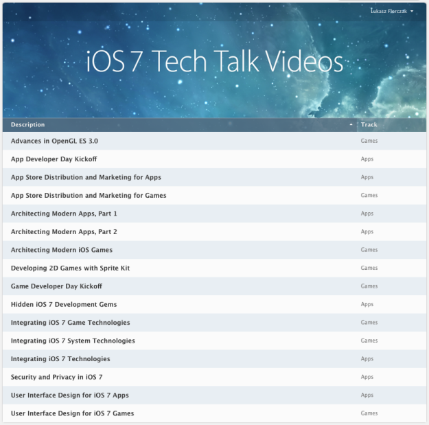 iOS 7 Tech Talks