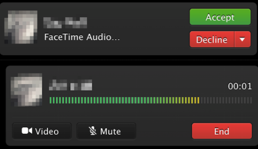 FaceTime audio - Mac OS X 10.9.2