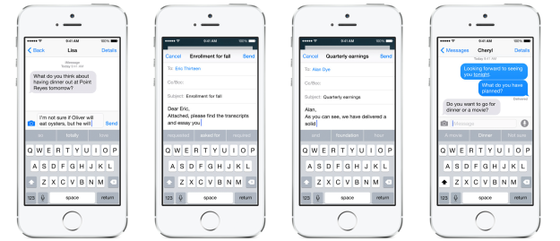 iOS 8 – QuickType