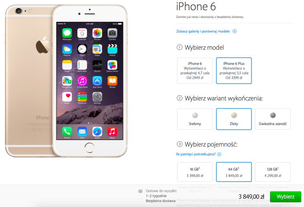 iPhone 6 Plus na Apple Store Online