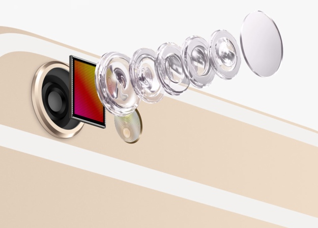iPhone 6 gold photo lens