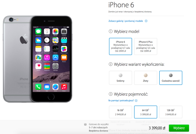 iPhone 6 na Apple Store Online