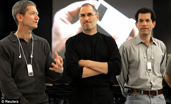 Tim Cook, Steve Jobs, Jon Rubinstein